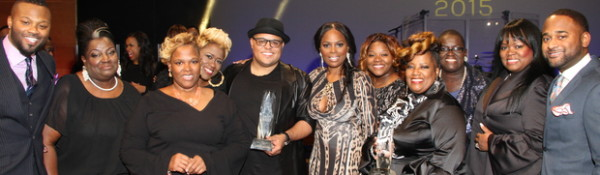 Pictured above: The Anointed Pace Sisters and Israel Houghton (center) with BMI Executive Director, Writer-Publisher Rela